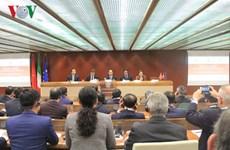Le président Tran Dai Quang au forum des entreprises Vietnam-Italie