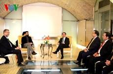 Le président Tran Dai Quang rencontre les dirigeants des Partis de gauche en Italie