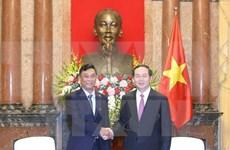 Le président Trân Dai Quang reçoit le ministre birman de l'Intérieur