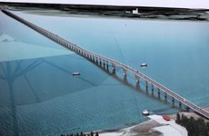 Raccordement du pont maritime le plus long en Asie du Sud-Est