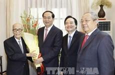 Le président Tran Dai Quang formule ses vœux du Têt à des intellectuels