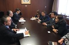 Une délégation de la Confédération générale du Travail du Vietnam en visite de travail au Japon
