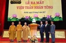 Création de l'Institut Tran Nhan Tong