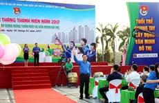 Le vice-Premier ministre Vuong Dinh Hue à la cérémonie de lancement du Mois des Jeunes