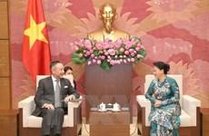La présidente de l'AN Nguyen Thi Kim Ngan reçoit l'ambassadeur de la R. tchèque
