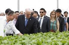 Le président israélien visite le complexe VinEco Tam Dao