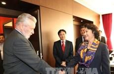 La présidente de l'AN estime les activités de l'Association d'amitié Hongrie-Vietnam