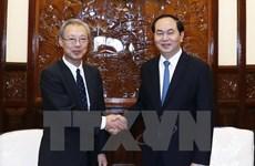 Le président Tran Dai Quang reçoit le président et rédacteur en chef de Kyodo