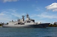 Un navire de la Marine nationale néo-zélandaise à Da Nang