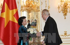 Entrevue entre la présidente de l'AN du Vietnam et le président tchèque