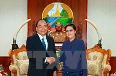 Le Premier ministre Nguyen Xuan Phuc rencontre plusieurs hauts dirigeants laotiens