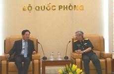 Le général Nguyen Chi Vinh reçoit l'ambassadeur de Chine
