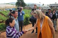 La reine des Pays-Bas se rend à Lam Dong