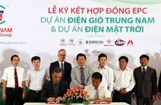 Coopération pour le développement du photovoltaïque et de l'éolien à Ninh Thuân
