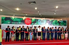 Ouverture du Salon international Mekong Beauty Show 2017 à HCM-Ville