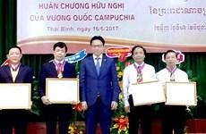 Une université de Thai Binh reçoit l'Ordre de l'Amitié du Cambodge