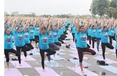Journée internationale du yoga à Vinh Phuc
