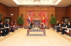 Le président de l'AN cambodgienne termine sa visite officielle d'amitié au Vietnam