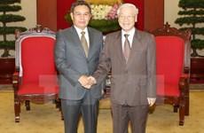 Le leader du PCV reçoit des hôtes laotiens