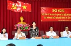 La présidente de l'Assemblée nationale à l'écoute des électeurs de Can Tho