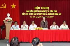 La présidente de l'AN Nguyên Thi Kim Ngân rencontre des électeurs de Can Tho