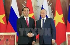Déclaration commune sur les résultats de la visite officielle en Russie du président Tran Dai Quang