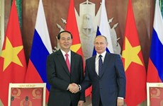 Le président Tran Dai Quang en visite officielle en Biélorussie et en Russie