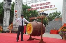 La fête de descente au champ 2017 à Quang Yen