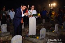 Un programme de reconnaissance des morts pour la Patrie à Nghe An