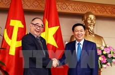 Le vice-PM Vuong Dinh Hue reçoit une délégation de l'ERIA