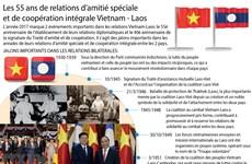 [Infographie] Les 55 ans de relations d'amitié spéciale et de coopération intégrale Vietnam - Laos