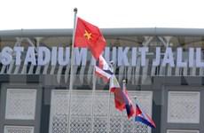 Cérémonie de lever de drapeau des pays participants aux SEA Games 29