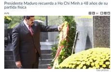 Le président vénézuélien Maduro exalte le patriotisme et le nationalisme du Président Ho Chi Minh