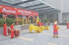 Inauguration du 15ème supermarché Auchan au Vietnam