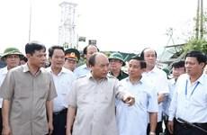 Typhon Doksuri : le Premier ministre sur les lieux