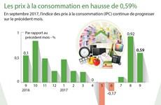 [Infographie] Les prix à la consommation en hausse de 0,59%