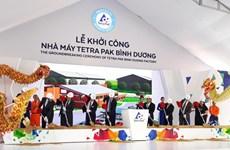 Mise en chantier d'une usine d'emballages de Tetra Pak à Binh Duong
