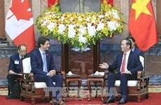 Le président Tran Dai Quang reçoit le Premier ministre canadien