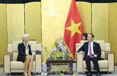 APEC 2017 : le chef de l'Etat reçoit la directrice générale du FMI