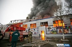Appel à aider les habitants victimes de l'incendie de marché dans la ville d'Orenbourg