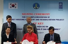 Typhon Damrey : la R. de Corée et la PNUD soutiennent la population sinistrée du Centre