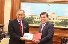 Le président du Comité populaire de Ho Chi Minh-Ville reçoit le consul général d'Indonésie
