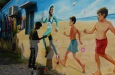 Dông Thap: village des fresques murales Vietnam - Australie