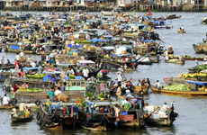 Le marché flottant de Nga Nam