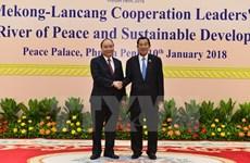Le PM Nguyên Xuân Phuc au Cambodge pour le sommet de coopération Mékong-Lancang