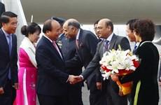 Le Premier ministre Nguyên Xuân Phuc arrive à New Delhi