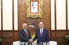 Le président Tran Dai Quang reçoit l'ambassadeur égyptien