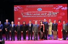 Un spectacle pour saluer l'arrivée du Nouvel An 2018 à Hanoï