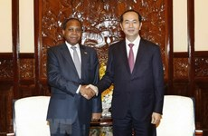 Le président reçoit l'ambassadeur sortant mozambicain