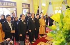 Des dirigeants rendent hommage au bonze supérieur Thich Thanh Sam